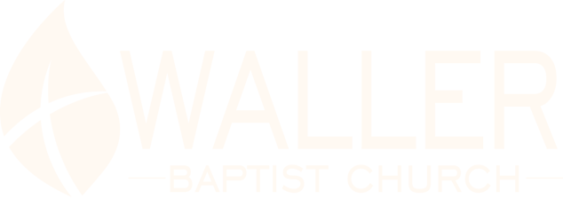 Waller Baptist Church Logo in all white.