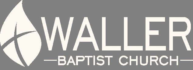 Waller Baptist Church Logo in all white.